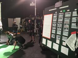 Floor Runners Bootcamp - on set