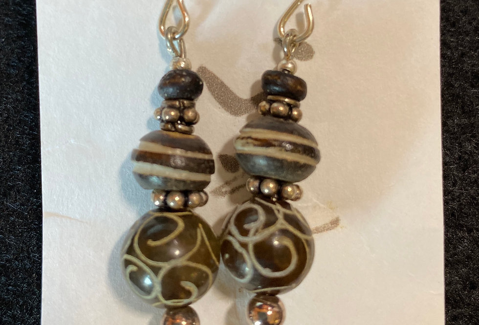Carved Stone & Wood with Silver
