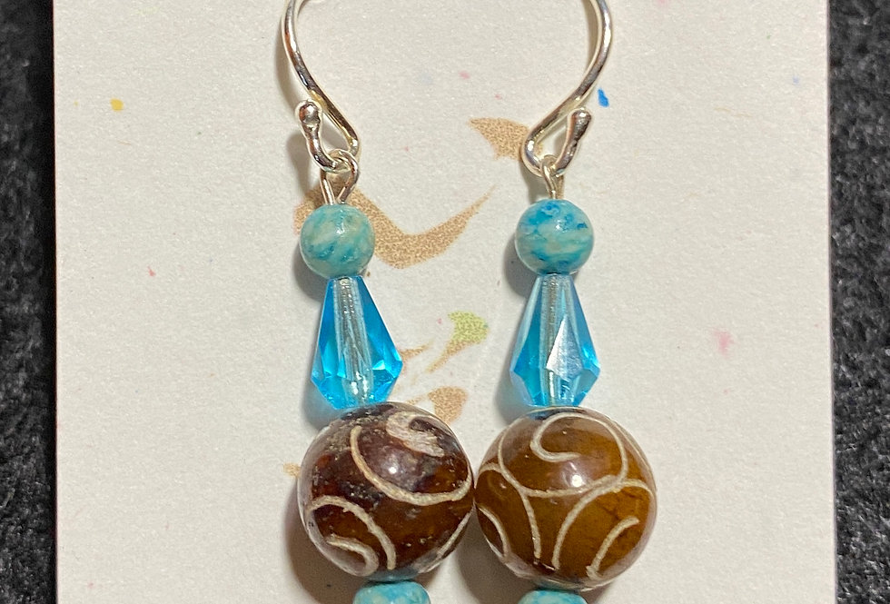 Carved Stone & Turquoise