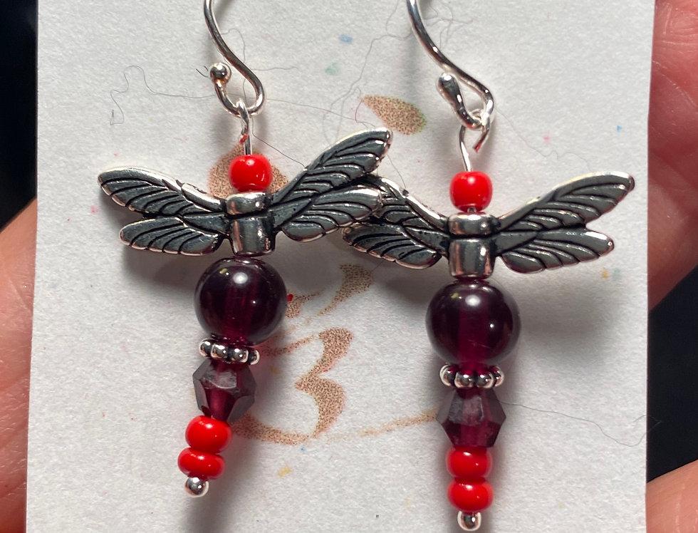 Red/Garnet Dragonflies