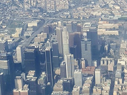 Flew over Downtown LA and caught a bird's eye view of DTLA