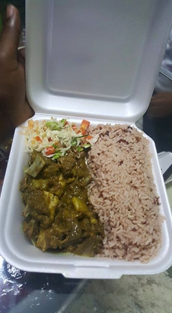 Curry goat plate for $5.jpg00! Irie