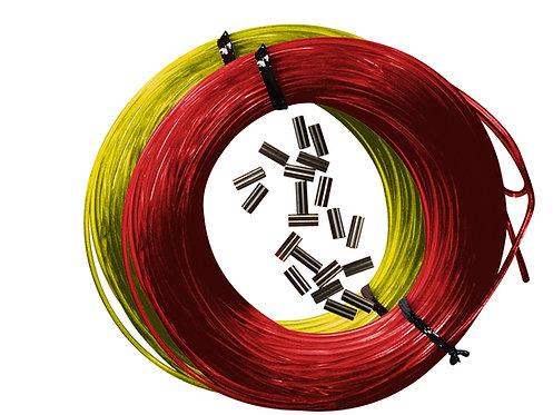 Kit nylon + sleeves 160 ou 180 rouge ou jaune