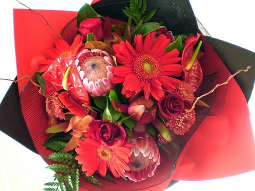 Round Red Explosion Bouquet, prices from...