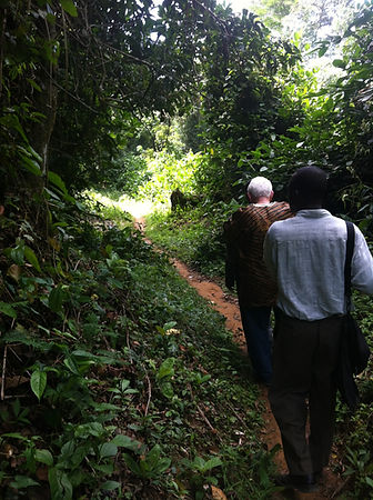 Walking back from the Liberia Village 20