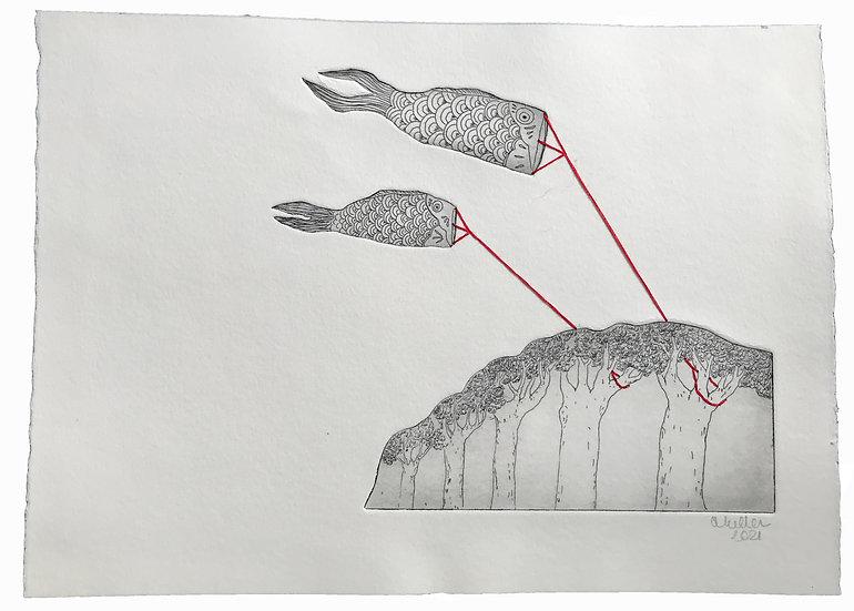 Deux poissons / foret