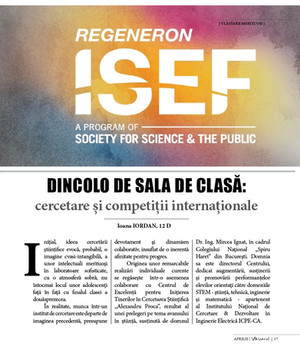 Dincolo de sala de clasă... cercetare și competiții internaționale