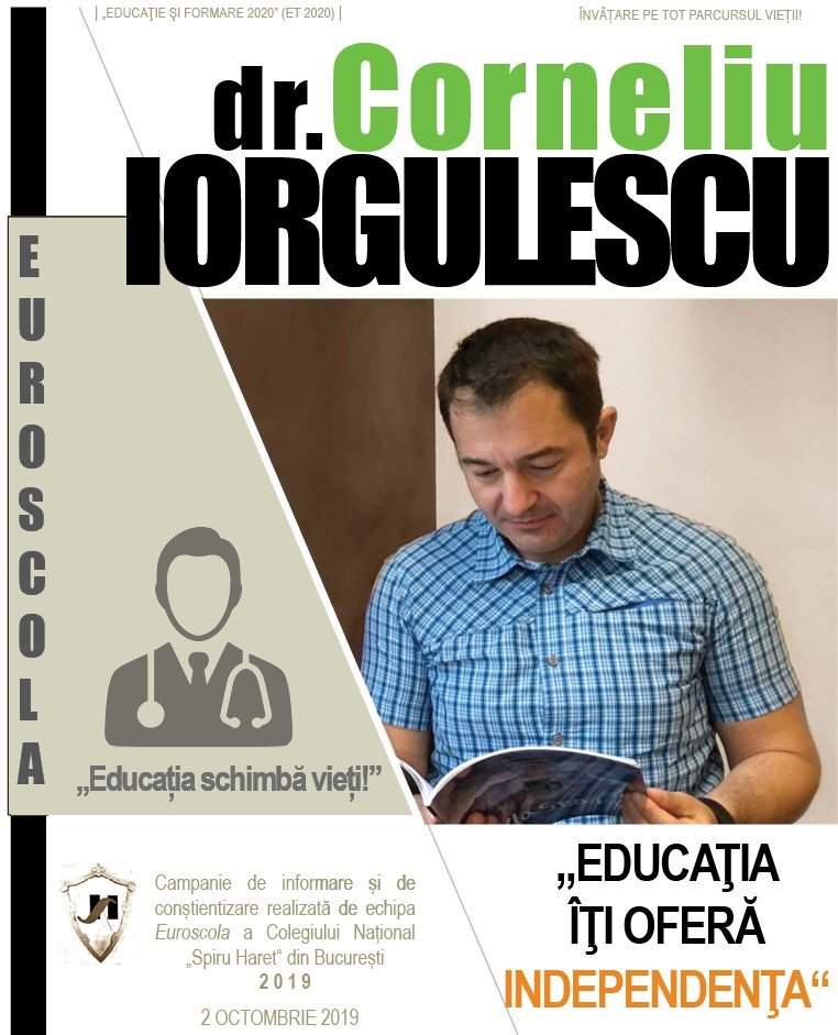 """Dr. Corneliu IORGULESCU (Spitalul Floreasca): """"REUȘITA ÎNSEAMNĂ INTEGRARE SOCIALĂ ŞI FAMILIALĂ COMPL"""