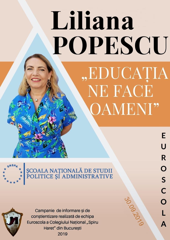 """Liliana Popescu BÎRLAN  (S.N.S.P.A.): """"SUNTEM EDUCAȚI, DAR FĂRĂ SĂ CONȘTIENTIZĂM """""""