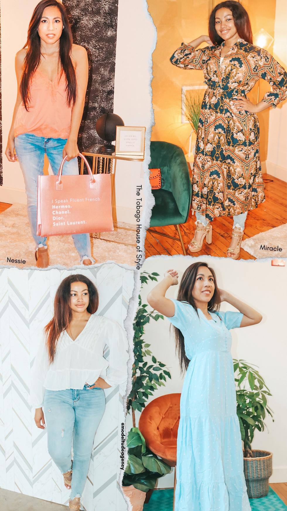 The Tobago House of Style Photoshoot 21' Modeltude Agency Photoshoot Models