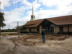 Grading And Excavating Parking Lot At Church
