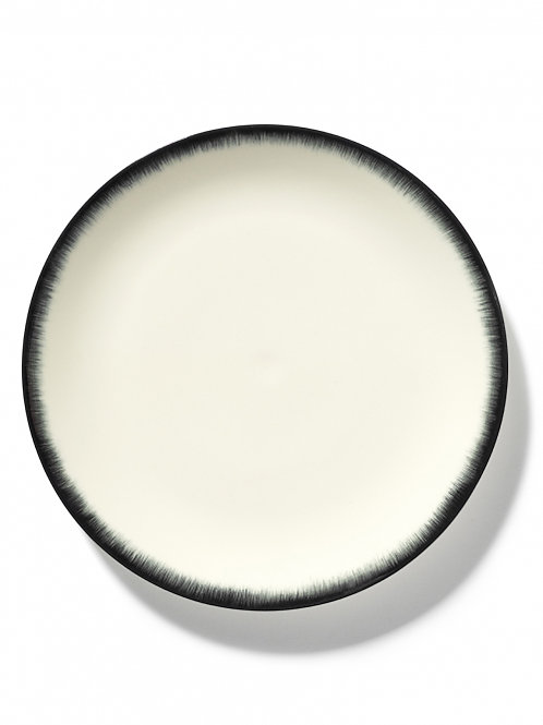 Plate Dé Off-white/black var 3 (by 2 pieces)