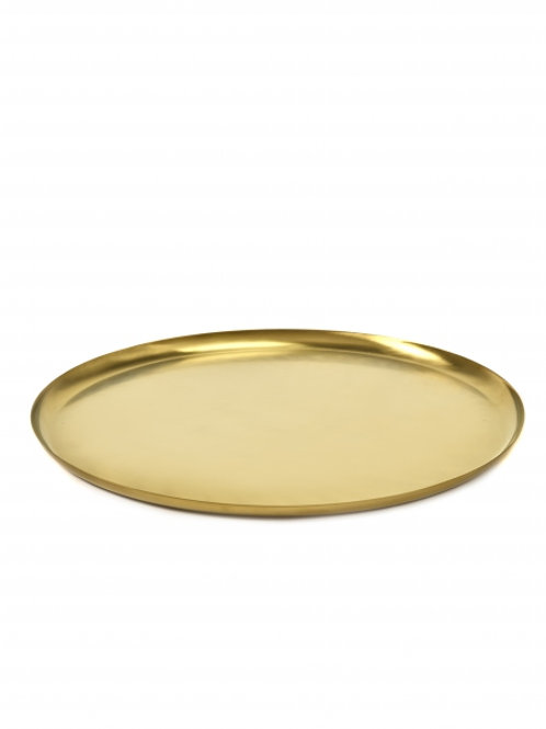 Serax - Golden serving dish by Bea Mombaers