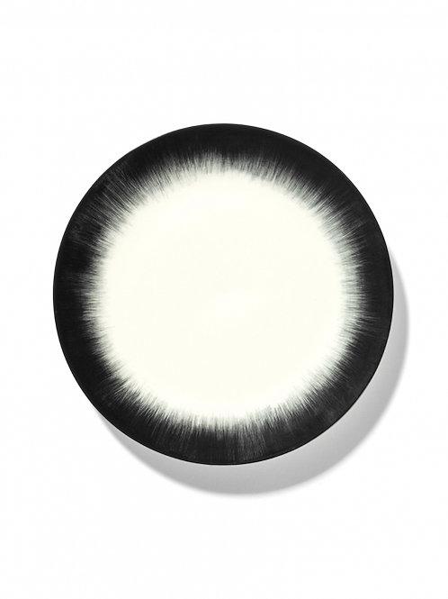 Plate Dé Off-white/black var 4 (by 2 pieces)