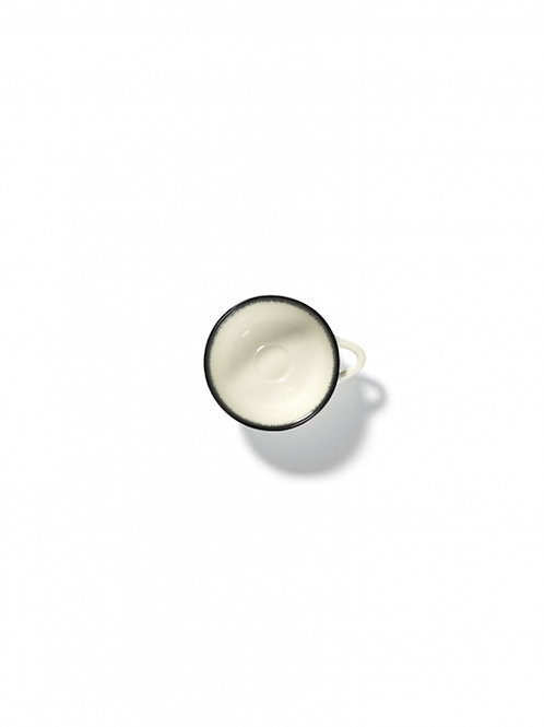 Set of 2 Espresso Cups Dé Off-White/Black var A