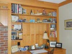 Custom Red Oak Bookshelf Detail