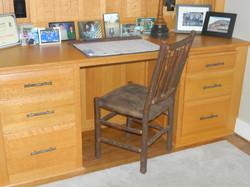 Custom Red Oak Desk Detail