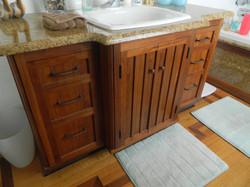 Custom Bathroom Walnut Vanity