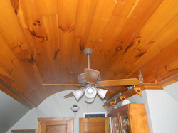 Knotty Pine Barrel Ceiling