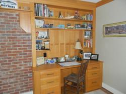 Custom Red Oak Bookshelf/Desk