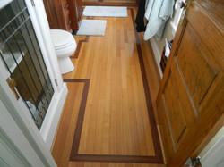 White Oak Floor with Walnut Border