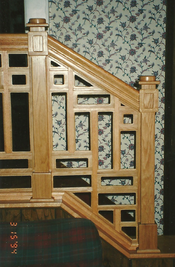 Red Oak Banister & Handrail
