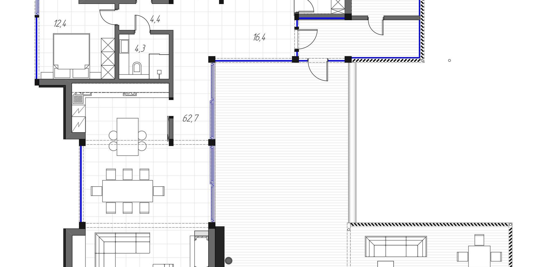 Рига Парк. Коттедж 315 кв.м. План первого этажа