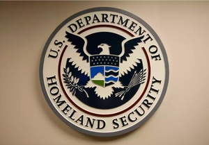 U.S. Department of Homeland Security emblem is pictured at the National Cybersecurity & Communications Integration Center (NCCIC) located just outside Washington in Arlington, Virginia September 24, 2010. (photo credit: REUTERS)