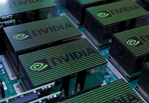 The logo of Nvidia Corporation is seen during the annual Computex computer exhibition in Taipei, Taiwan. (photo credit: REUTERS/TYRONE SIU)