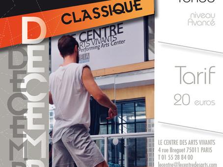 Stage de Classique Avancé - Centre des Arts Vivants - dimanche 16 décembre de 15h à 17h
