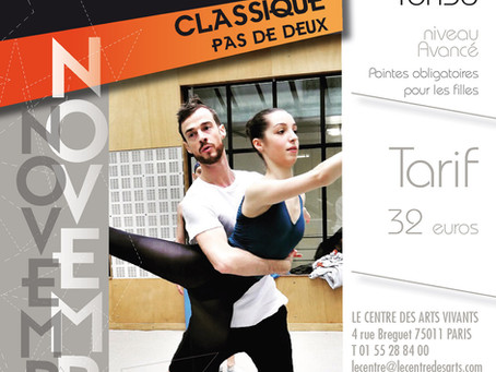 Stage de Pas de Deux Avancé - Centre des Arts Vivants - dimanche 18 novembre 16h30 à 18h30