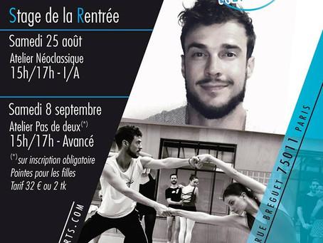Stage de Pas de Deux Avancé - Centre des Arts Vivants - samedi 8 septembre de 15h à 17h