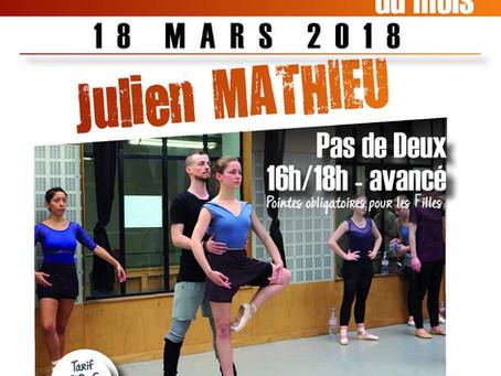Stage de Pas de Deux Avancé - Centre des Arts Vivants - dimanche 18 mars de 16h à 18h