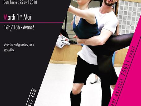 Stage de Pas de Deux Avancé - Centre des Arts Vivants - mardi 1er mai de 16h à 18h