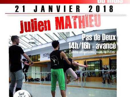 Stage de Pas de Deux Avancé - Centre des Arts Vivants - dimanche 21 janvier de 14h à 16h