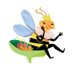 Sad queen bee