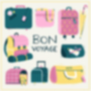 travel suitcase and bags illustration
