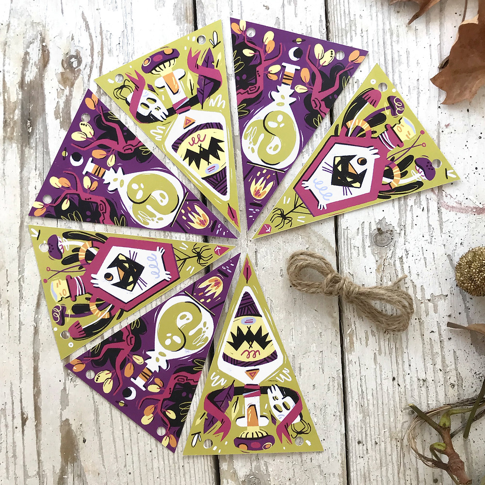 Halloween magic potions garland hanging decoration