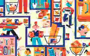 DIY maze editorial illustration