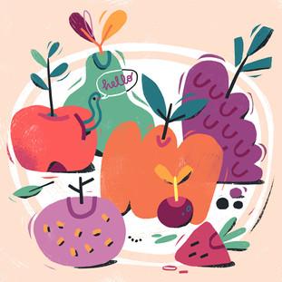 Having fun with fruit