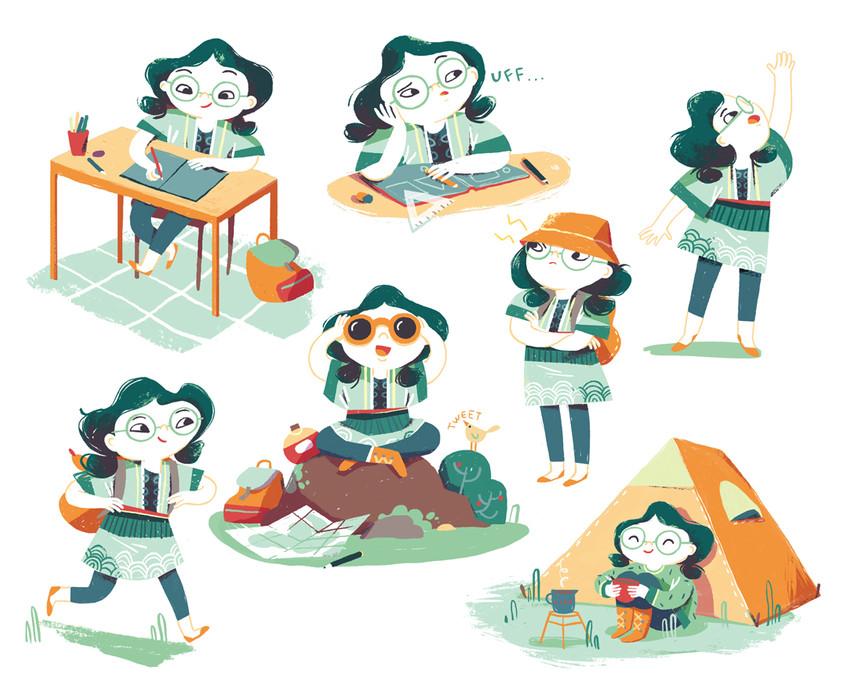 children character design illustration