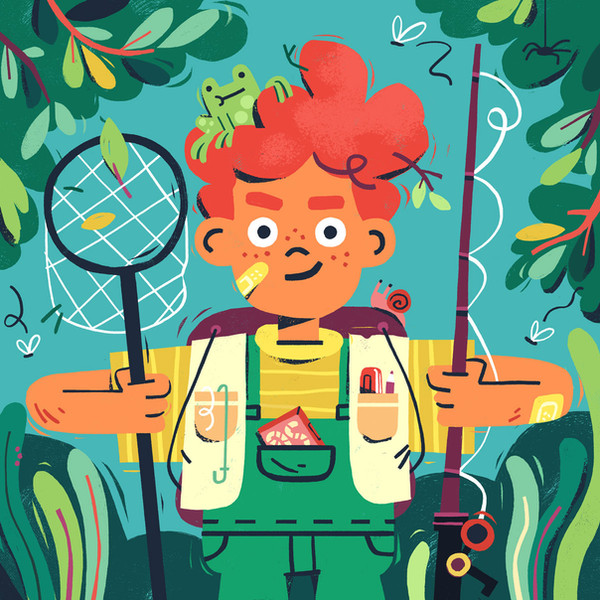 boy-goes-fishing-children's-illustration