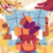 solo travel girl map illustration susann