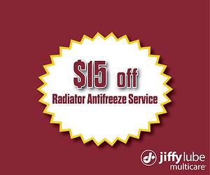 2020 $15 Off Radiator Antifreeze Service
