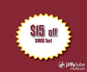 2020 $15 Off SMOG Test Website Coupon -