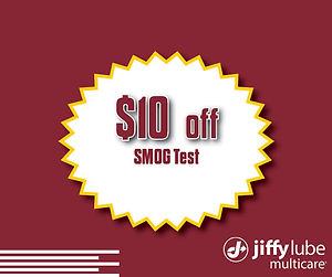 2021 $10 Off SMOG Test Website Coupon -
