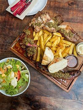 parrillada and salad
