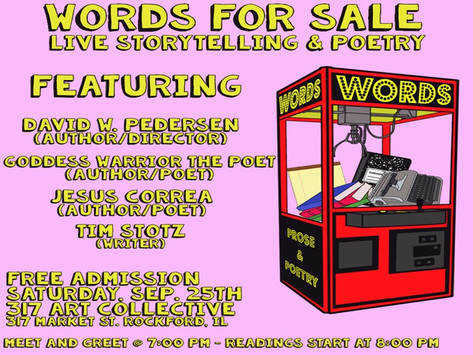 Words for Sale - Live Storytelling & Poetry 9/25/2021