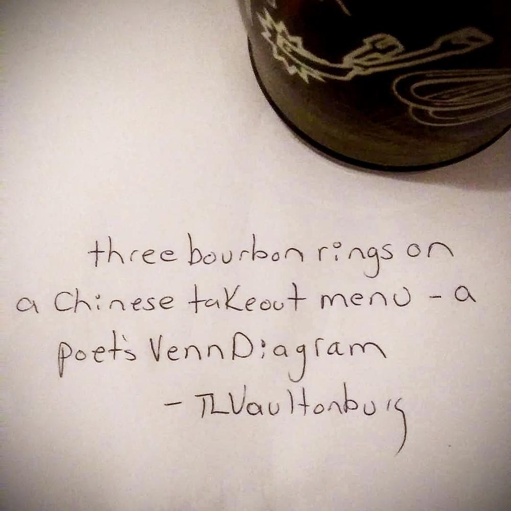 Handwritten Haiku from Thomas L. Vaultonburg.