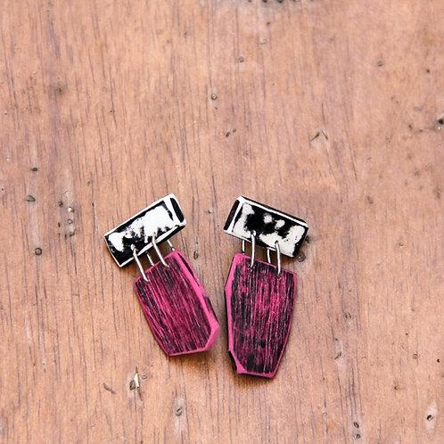 #002 Pop Pink Earrings